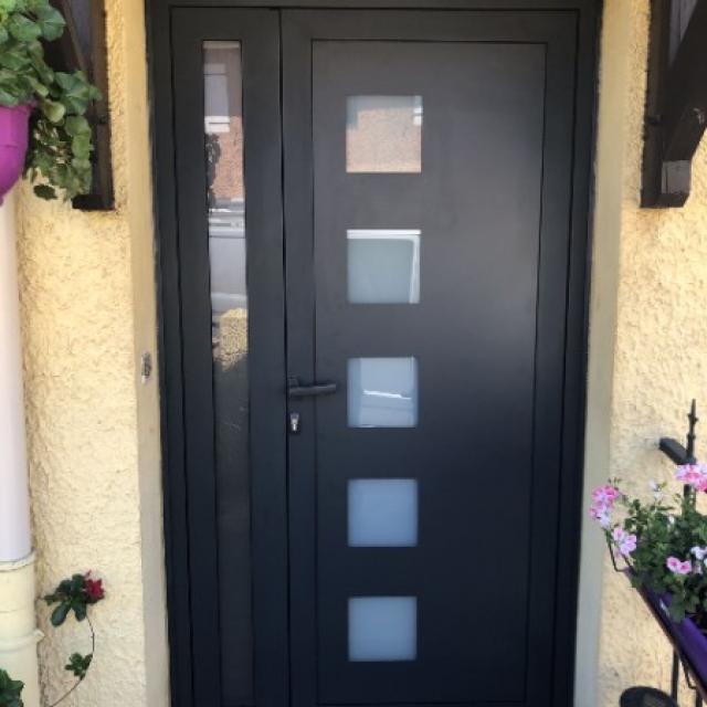 Pose porte extérieure